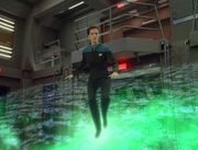 Jadzia Dax walks across force field