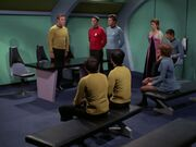 Kirk klagt Scott und McCoy an