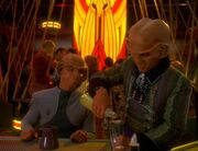 Quark and Rom in Quark's bar in Body Parts