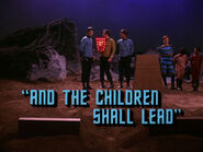 3x05 And the Children Shall Lead title card