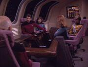 Führungsoffiziere besprechen über die Borg
