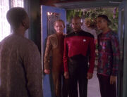 Joseph Sisko says goodbye to Benjamin, Jake, and Odo
