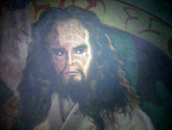 The painting of Kahless the Unforgettable at Boreth (2369)