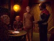 Regana Tosh, Quark, Odo, and Worf