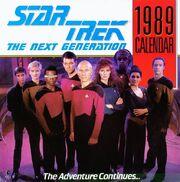 Star Trek TNG Calendar 1989