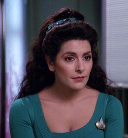 Deanna Troi, casual attire