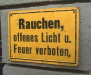 Deutsches Schild