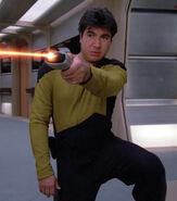 Enterprise-D security officer, 2364