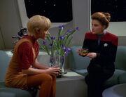 Kes spricht mit Janeway über den Doktor 2371