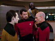 Riker und Picard streiten