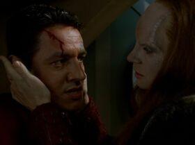 Seska interrogates Chakotay