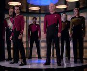 Jameson and Enterprise away team