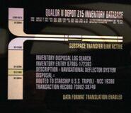 USS Tripoli - Qualor II database display