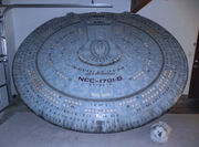 Enterprise-D saucer section model