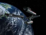 Enterprise im Orbit von Elas