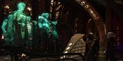 T'Kuvma and Voq address Klingon Council