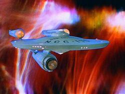 USS Enterprise (NCC-1701) at galactic barrier