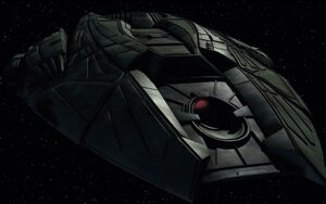 Goroth's starship, front