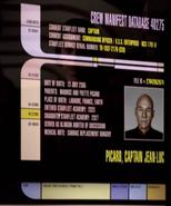 Jean Luc Picard personnel file