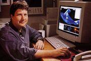 John Knoll working on his USS Enterprise-D CGI model