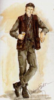 Zefram Cochrane costume sketch