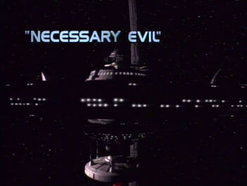 Necessary Evil title card