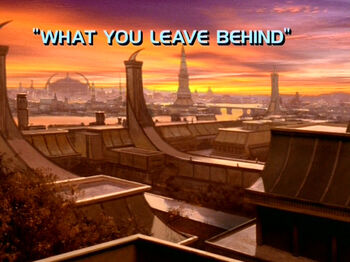 What You Leave Behind title card