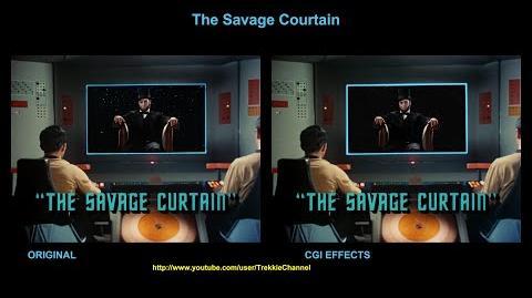 """TOS """"The Savage Curtain"""" - """"La frontière"""" - comparaison des effets spéciaux"""