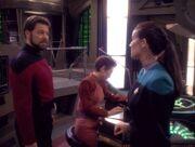Tom Riker, Kira, and Dax
