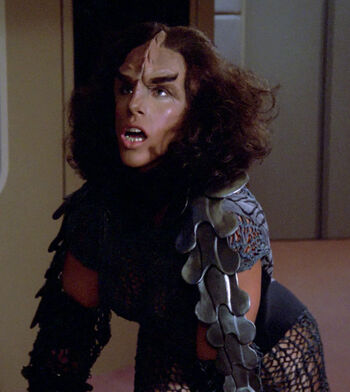 ...as a female Klingon