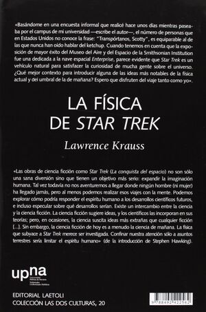 La fisica de Star Trek contraportada