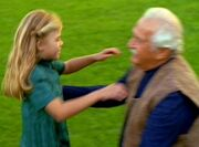 Riley Frazier and her grandfather