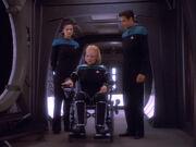 Melora Pazlar tests her wheelchair