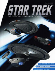 Star Trek Official Starships Collection Voyager Defiant Excelsior 3-pack