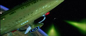 USS Enterprise-D evades the Duras sisters' Bird-of-Prey.jpg