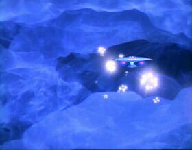 USS Enterprise-D in distant galaxy