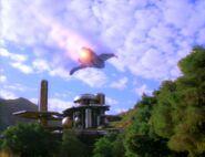 Bajoran raider over Bajor