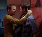 Evil Kirk and McCoy