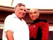 Gene Roddenberry und Patrick Stewart