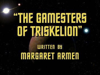 The Gamesters of Triskelion title card