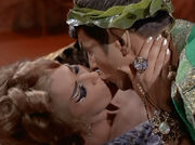 Chapel and Spock kiss