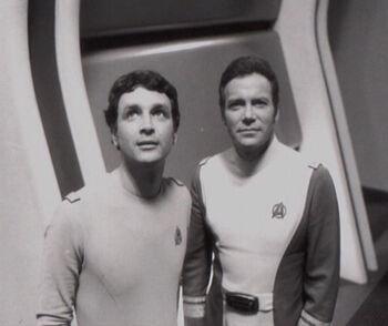 "Gerrold (l) and <a href=""/wiki/William_Shatner"" title=""William Shatner"">William Shatner</a> in 1978"