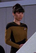 Female engineering crewmember, 2366