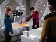 Riker destroys clone