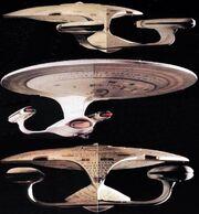 USS Enterprise 2-foot model under test lighting