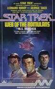 Web of the Romulans audiobook cover, US cassette edition