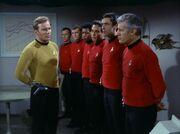 Kirk und sein Sicherheitsteam