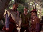 Picard, Riker und Troi im Sherwood Forest
