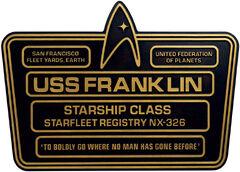 Eaglemoss USS Franklin dedication plaque