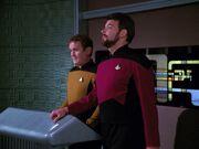 Riker lässt Picard von Bord beamen